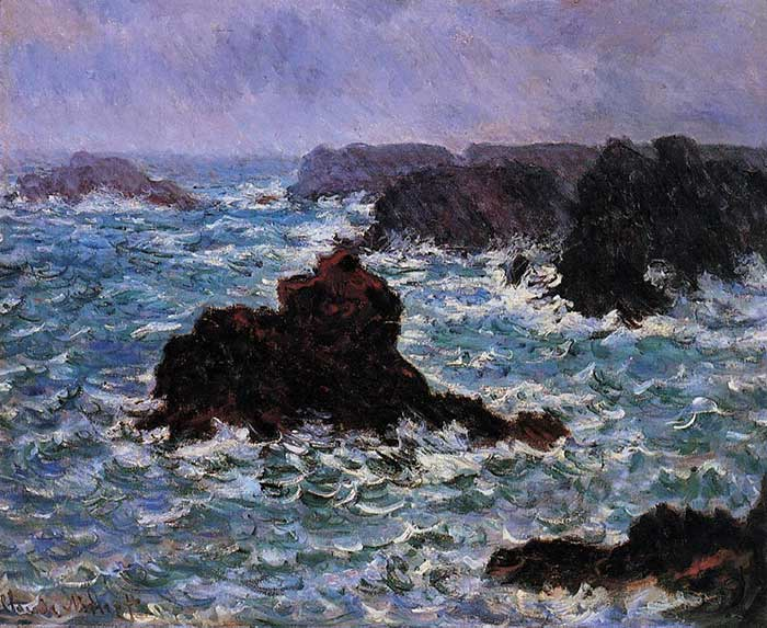 Claude Monet, Belle-Ile, Rain Effect, 1886