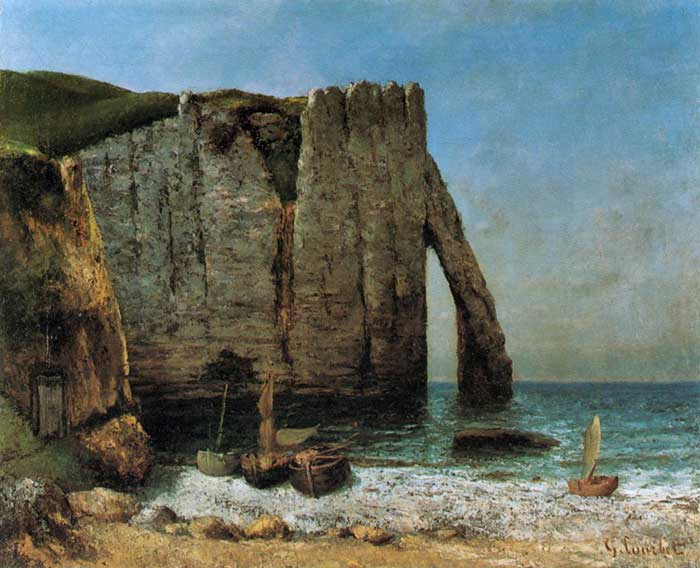 Gustave Courbet, Cliffs At Étretat, 1870