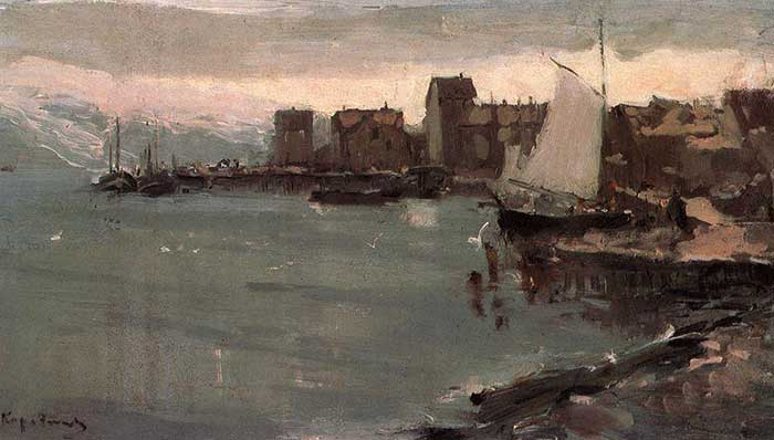 Konstantin Korovin, Harbor In Norway, 1894