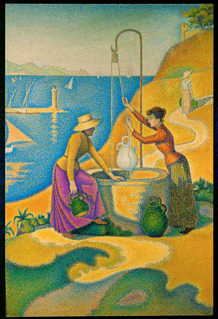 What You Can Learn From The Pointillism Art Movement | Paul Signac, Women at the Well, 1892