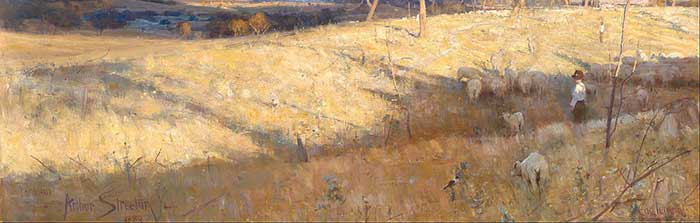 Arthur Streeton, Golden Summer, Eaglemont, 1889
