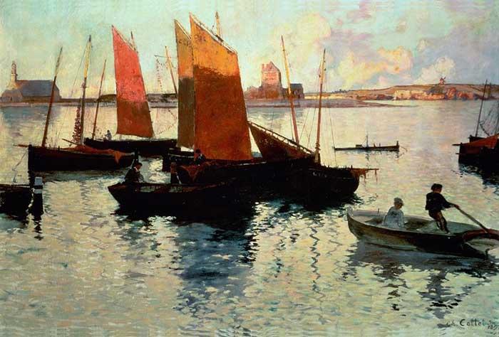 Charles Cottet, Rayons Du Soir, 1892