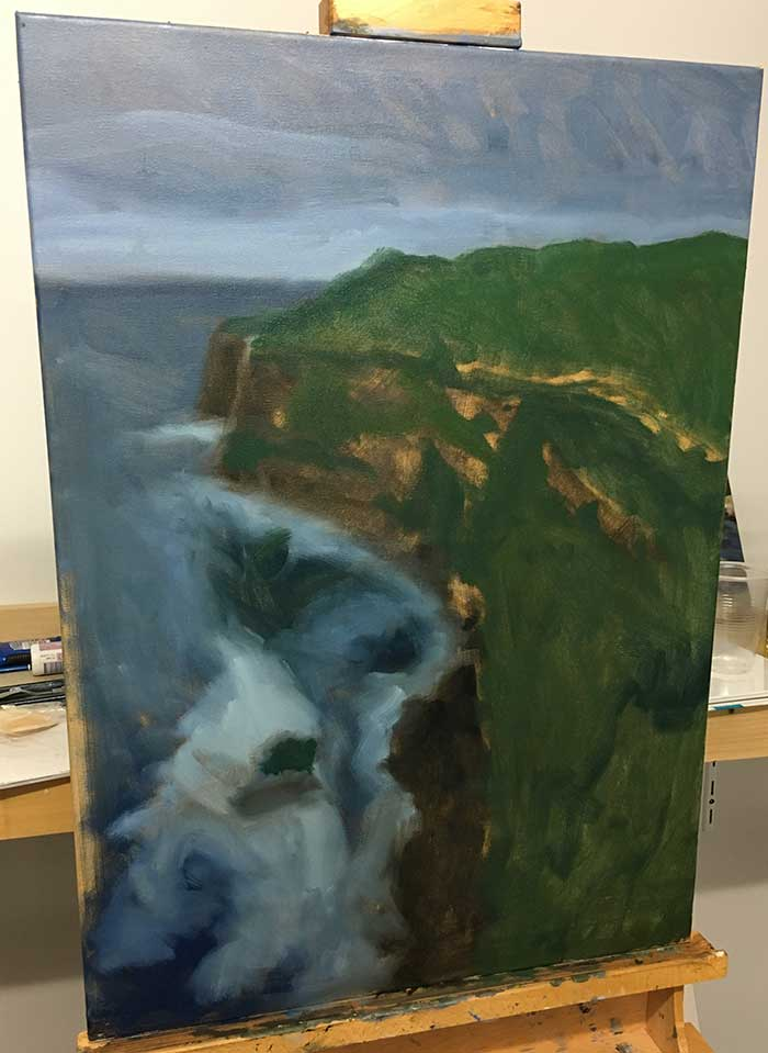 How to start an oil painting - Part 3 Block In