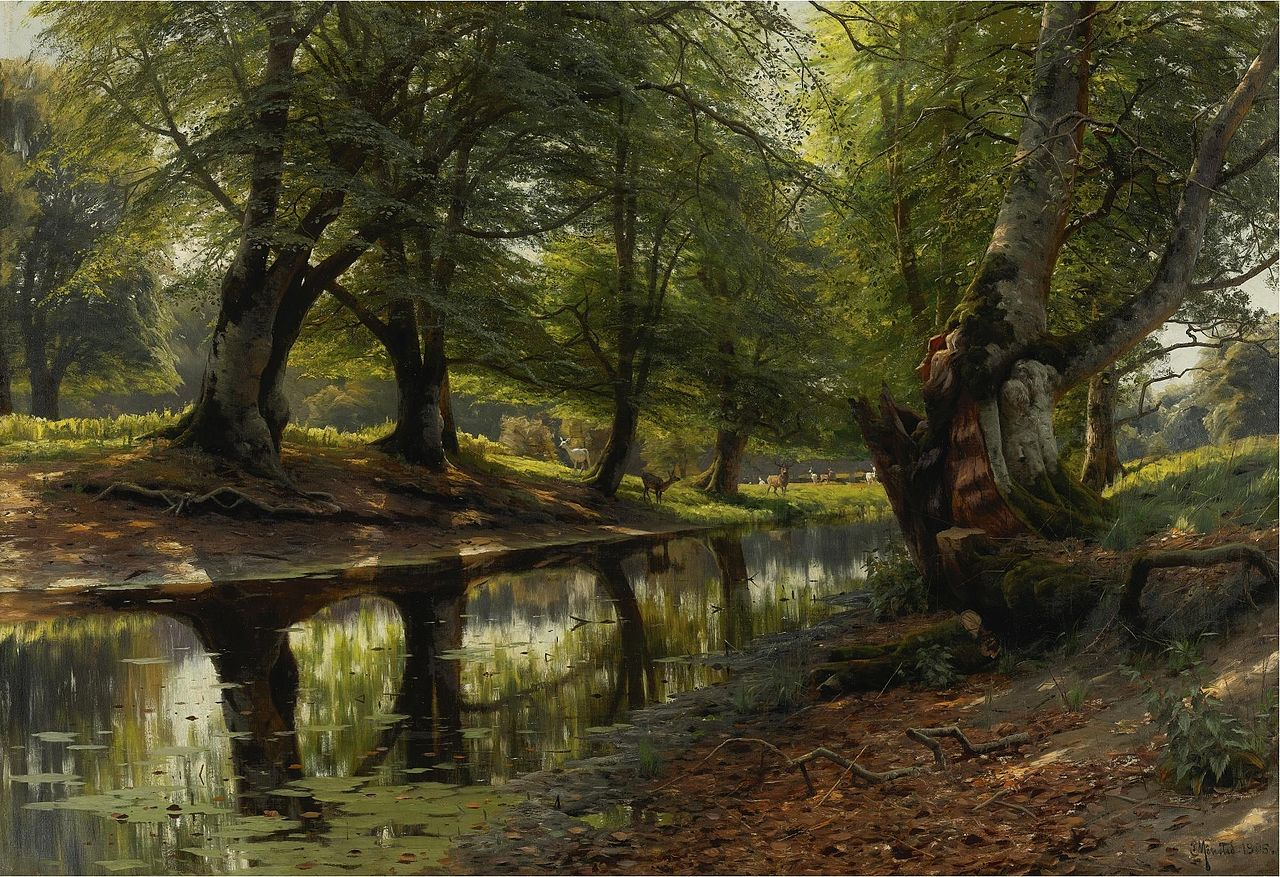 Peter Mork Monsted, A Stream And A Deer
