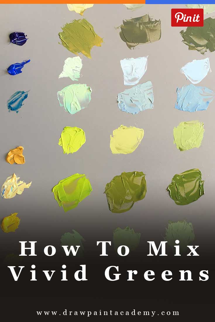How To Mix Vivid Greens And Understanding Color Bias | Color Mixing | Painting For Beginners | Oil Painting Tips | Canvas Painting