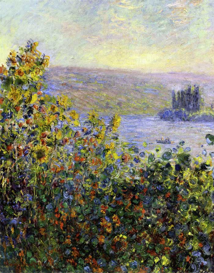 Claude Monet, Flower Beds At Vetheuil, 1881