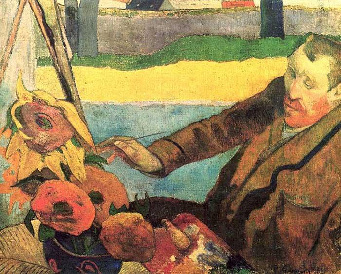 Paul Gauguin, Van Gogh Painting Sunflowers, 1888