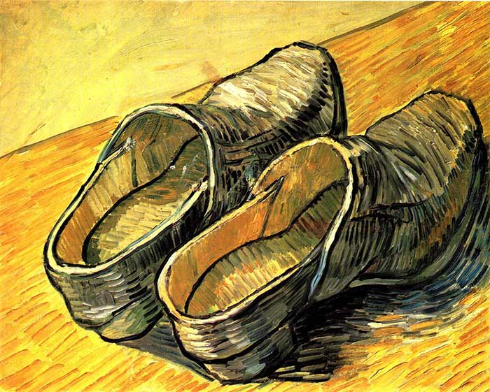 Vincent van Gogh, A Pair Of Leather Clogs, 1888 - How To Use Lines In Your Art