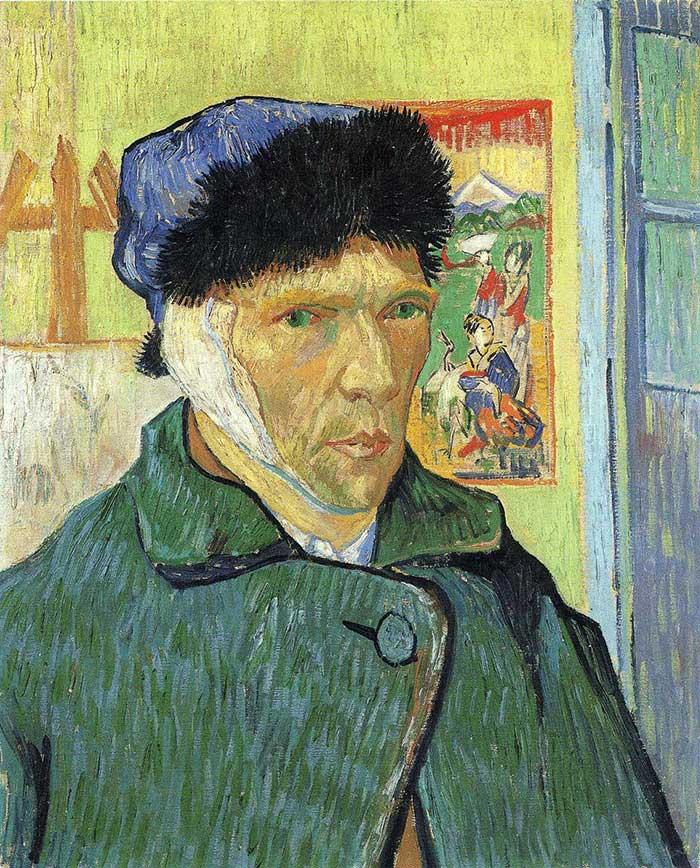 Facts About Vincent van Gogh   Vincent van Gogh, Self Portrait With Bandaged Ear, 1889