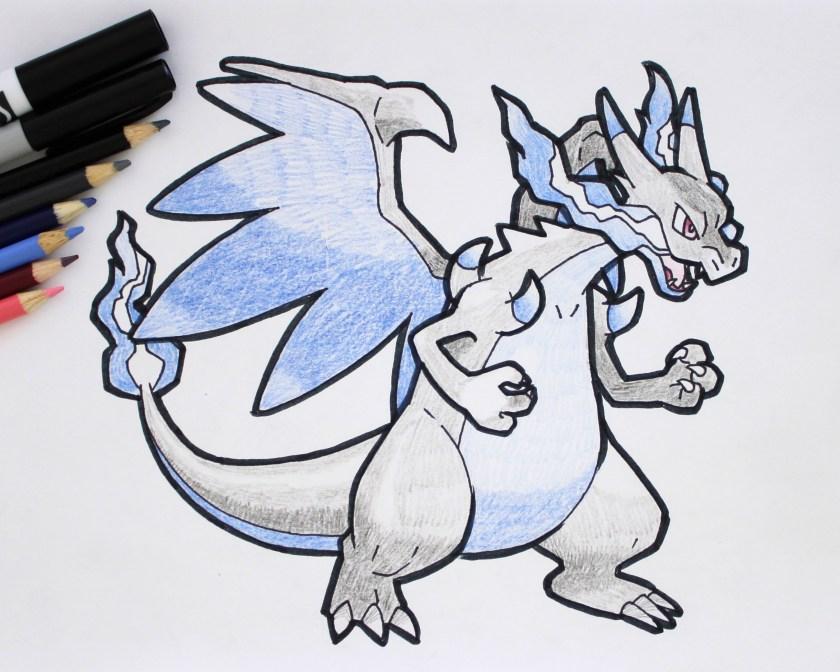 Mega Charizard X Drawing