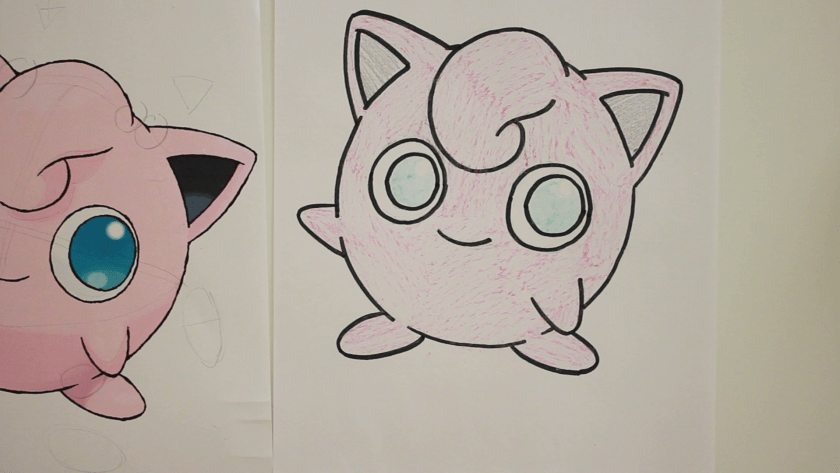 How to Draw Jigglypuff - Step 3 - Color in Midtone