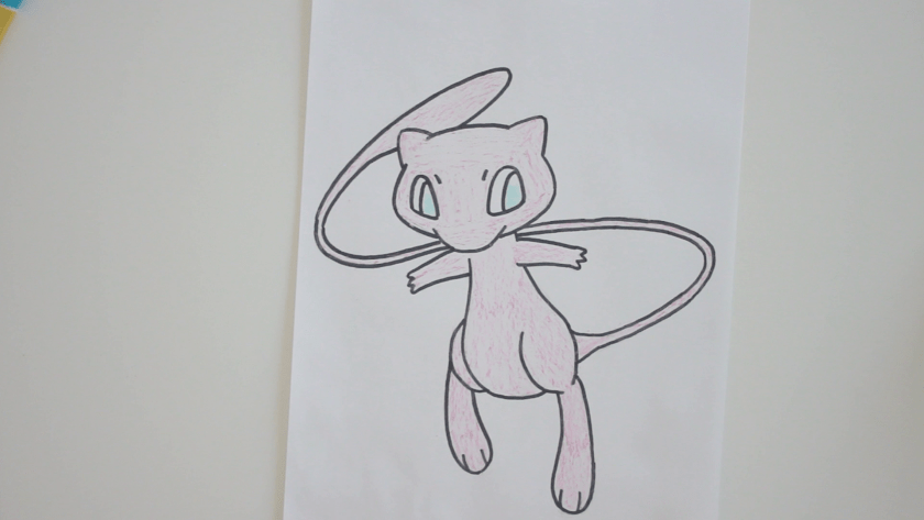 How to Draw Mew - Step 4 - Color in Midtone