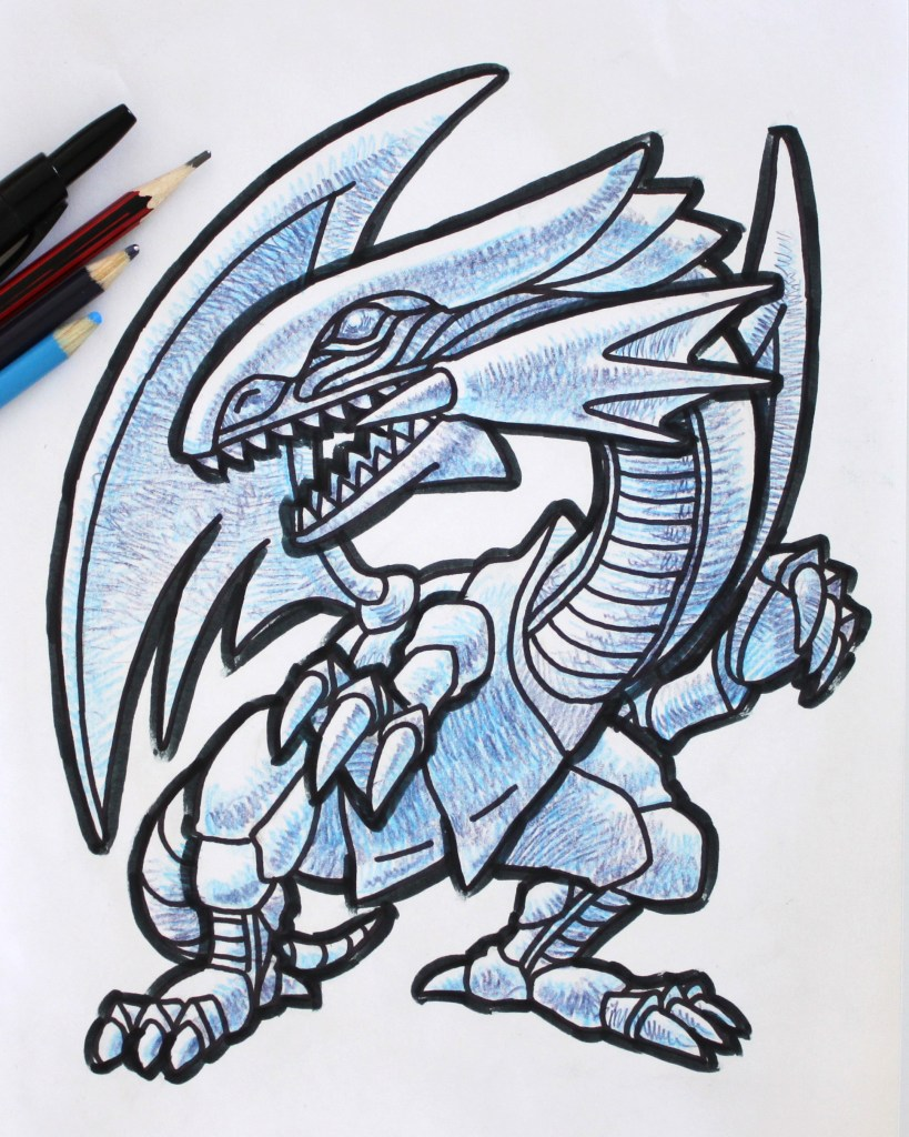 Blue Eyes White Dragon Drawing
