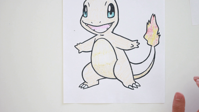 How to Draw Charmander - Step 4 - Color in Midtone