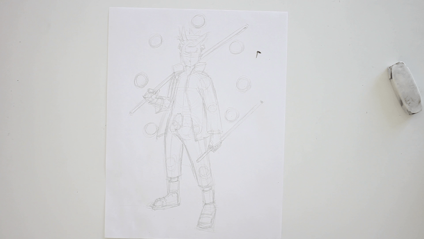 How to Draw Six Paths Sage Mode Naruto - Step 3 - Clothed Figure Drawing