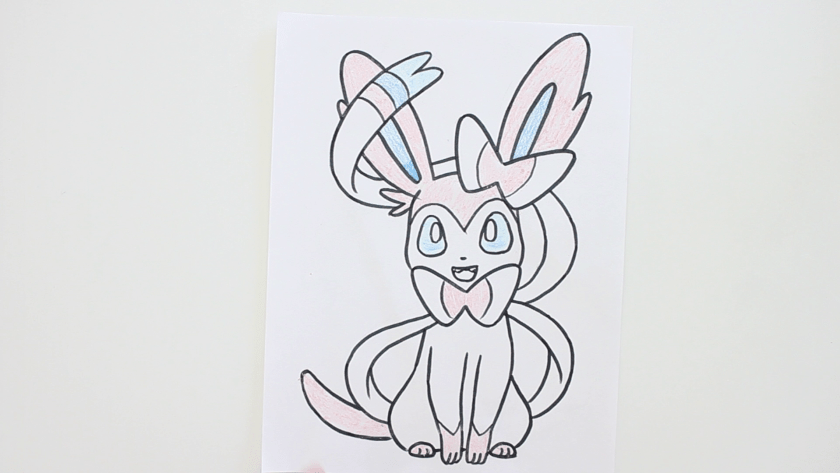 How to Draw Sylveon - Step 4 - Color in Midtone