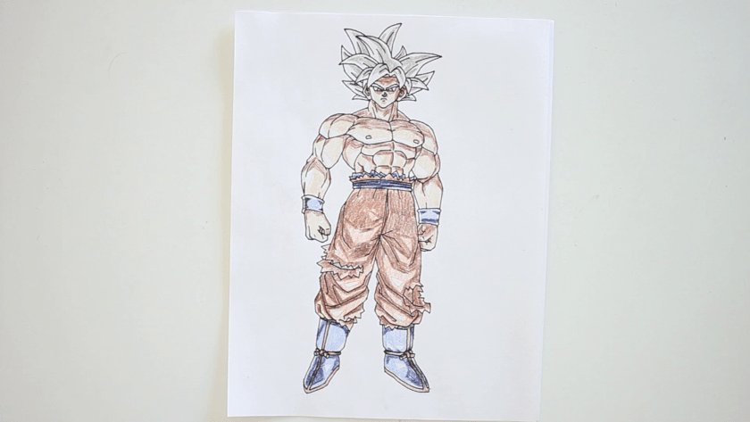 How to Draw Ultra Instinct Goku - Step 7 - Color in Shadow