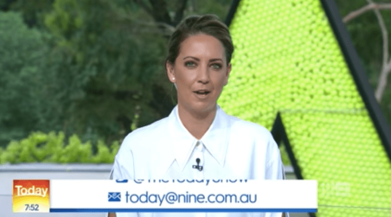 Brooke Boney on the Today show. Image Source: Channel Nine
