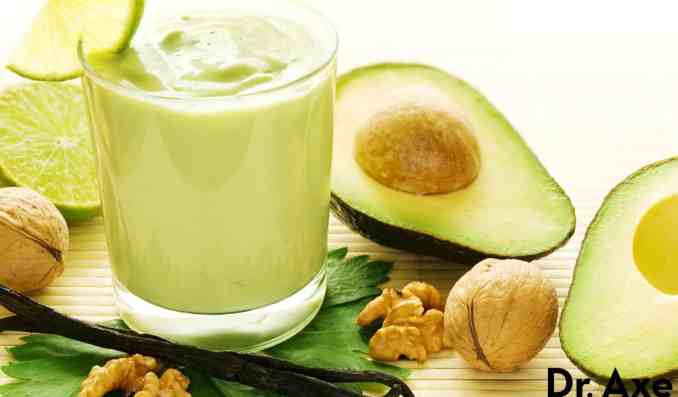 Brain Boosting Green Avocado Smoothie, Dr. Axe Recipes