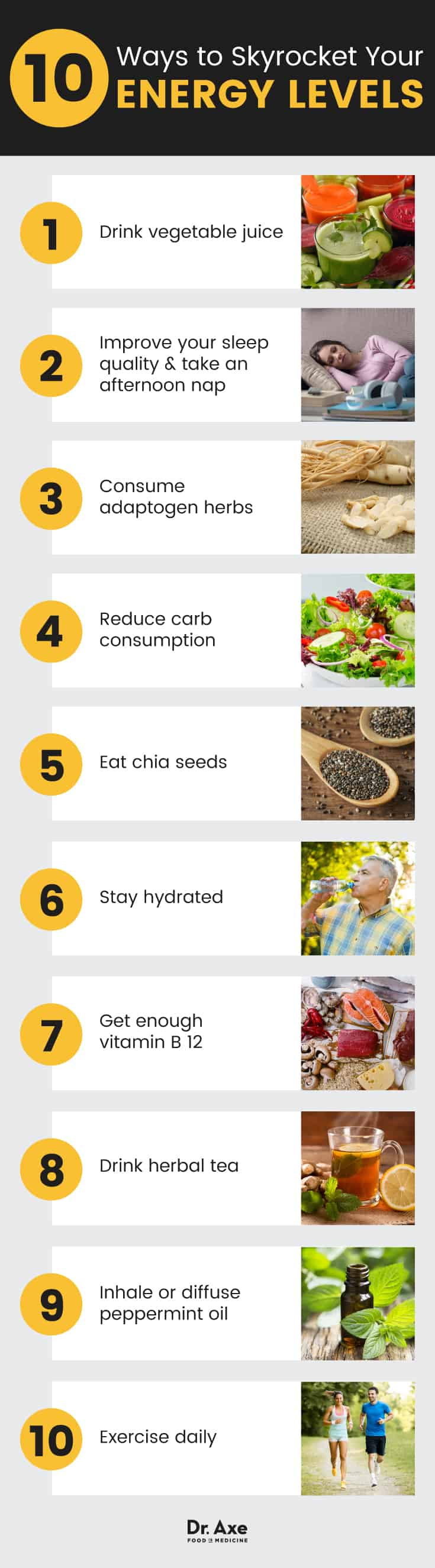 Exhausted? 10 ways to boost energy levels - Dr. Axe