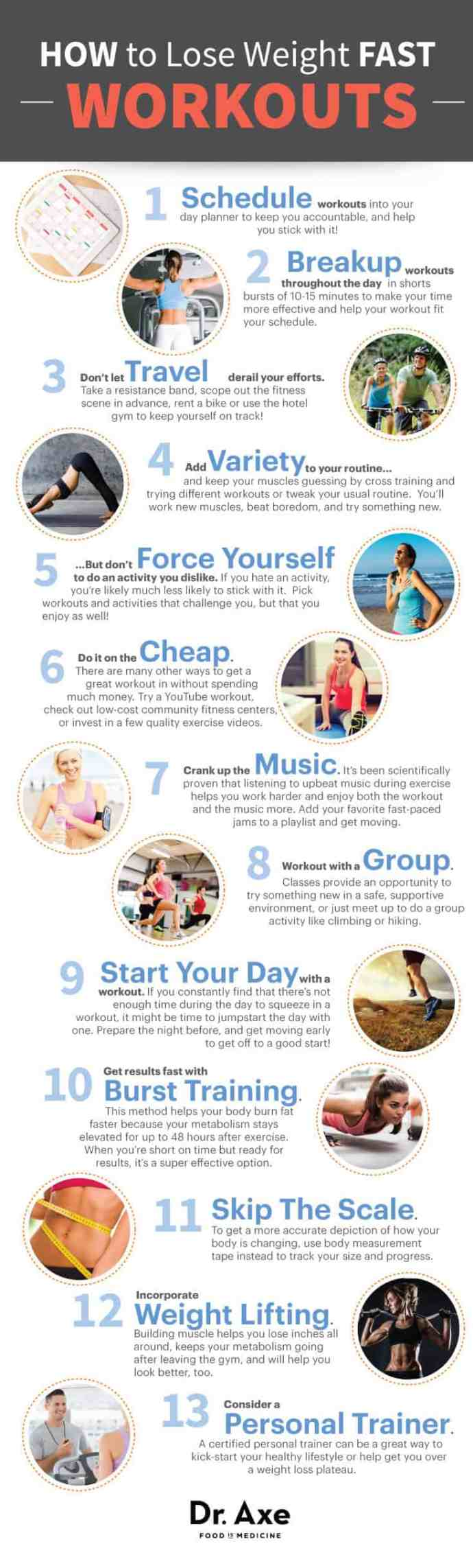 Secrets Workout List Lose Weight Fast Infographic