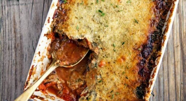 Eggplant Gratin With Tomato, Herbs and Crème Fraiche