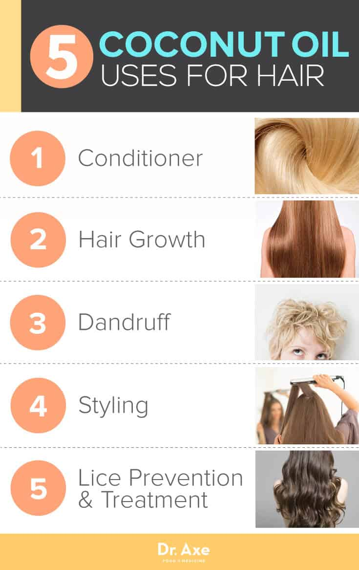 5 Best Uses of Coconut Oil for Hair - Dr, Axe