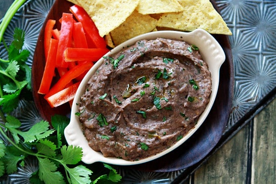 Black Bean Hummus with Lime and Cumin