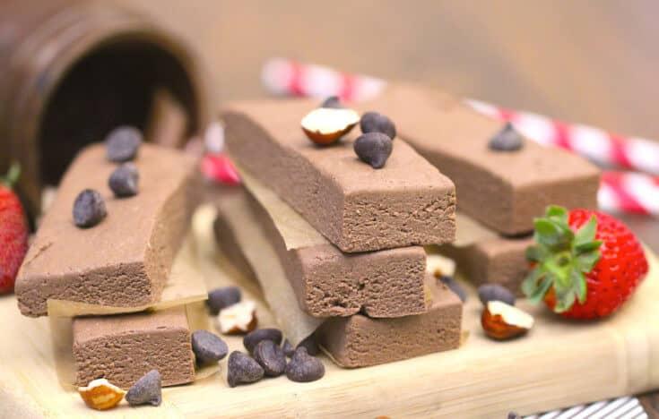 Healthy Nutella Fudge Protein Bars
