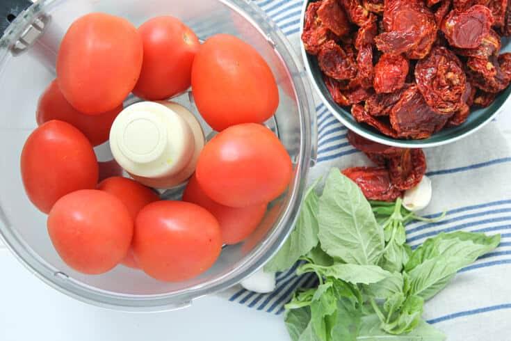 Raw vegan tomato sauce ingredients - Dr. Axe