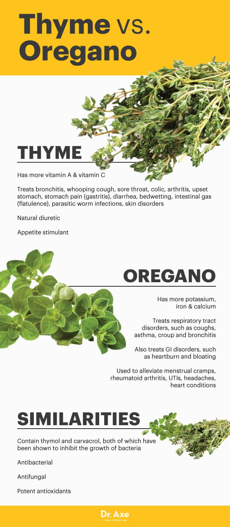 Thyme vs. oregano - Dr. Axe
