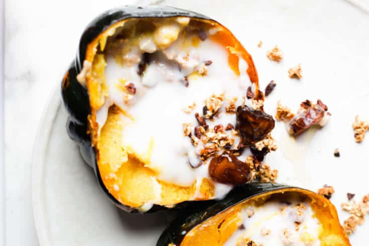 thought squash recipes were boring this roasted acorn recipe