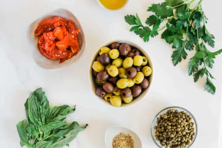 Olive tapenade recipe ingredients - Dr. Axe