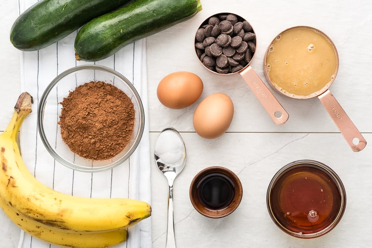 Zucchini brownies ingredients - Dr. Axe