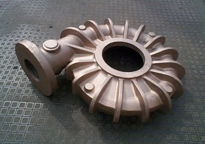 Large gunmetal LG2 bronze volute casting