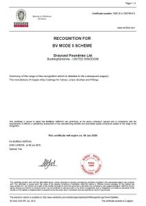 Bureau Vertitas Approved UK Bronze Foundry