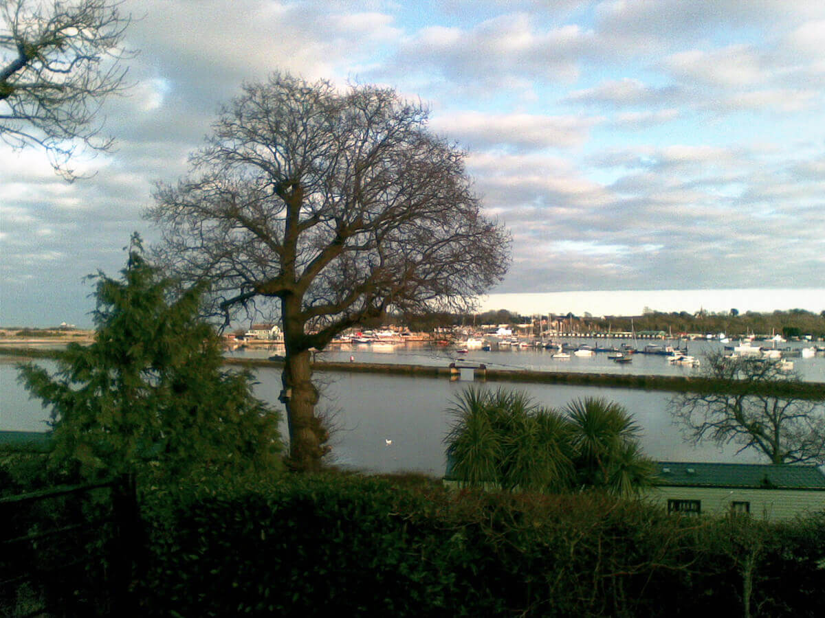 View from Mill Lane - walk down to the sea and look over Bembridge Harbour.