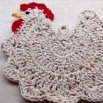 Who Says Potholders Can T Be Fun Learn How To Crochet This Chicken Hot Pad Crafty House