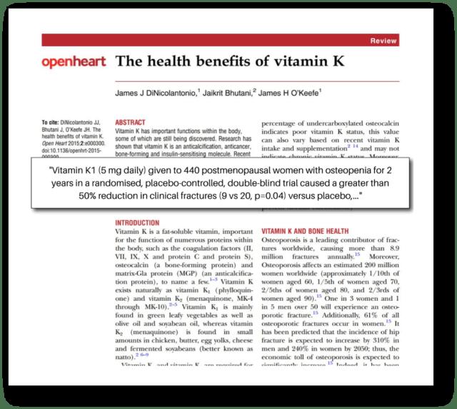Keto Adapted - Study Vitamin K