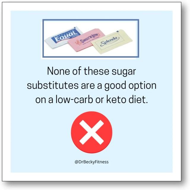 avoid artificial sweeteners on keto