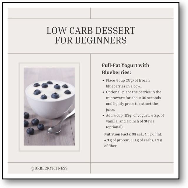 low carb dessert for beginners