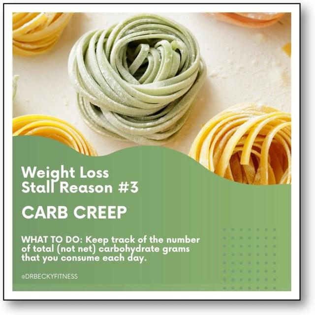 Weight Loss Stall Reason #3: Carb Creep