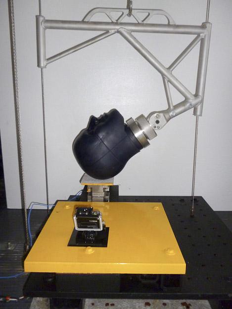 Dr. John Lloyd-biomechanics laboratory NOCSAE test