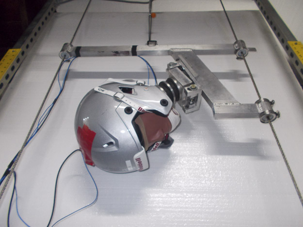 Dr. John Lloyd-biomechanics laboratory modified helmet test