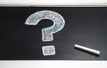 Chalkboard with large question mark
