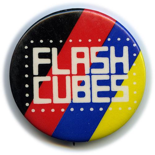 Flashcube button
