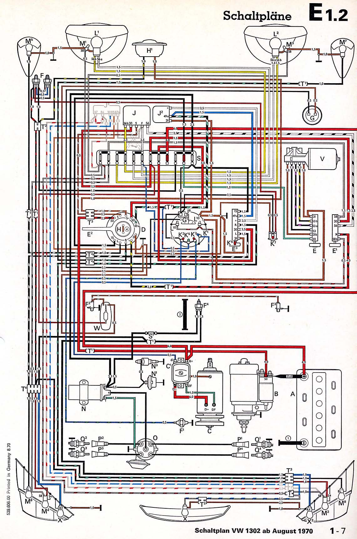 71 vw super beetle wiring diagrams