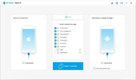 Transferir datos de Android a iPhone