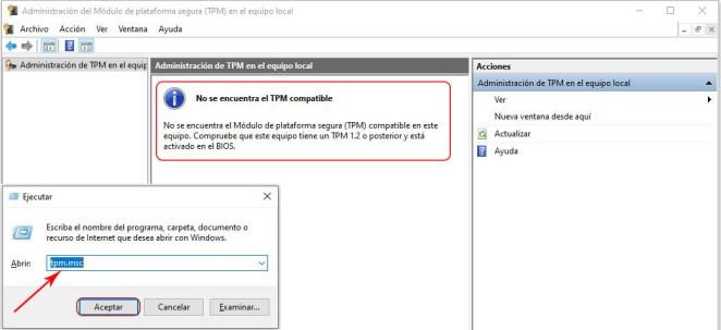 Windows 11 módulo TPM compatibilidad