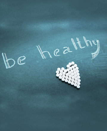 Be Healthy Chalk Drawing